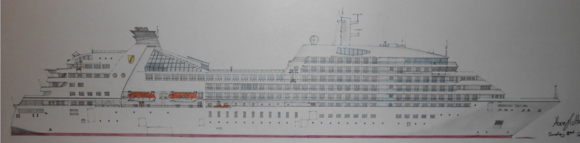 The Teenager Whos Drawn Incredibly Detailed Cruise Ships - Draw a cruise ship