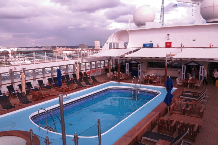 The outside pool on Saga Sapphire - there's a deeper one inside