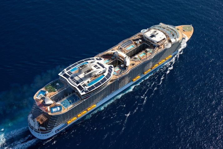 Mother ship: Oasis of the Seas and its sister Allure are the biggest cruise ships in the world (Picture: Royal Caribbean)