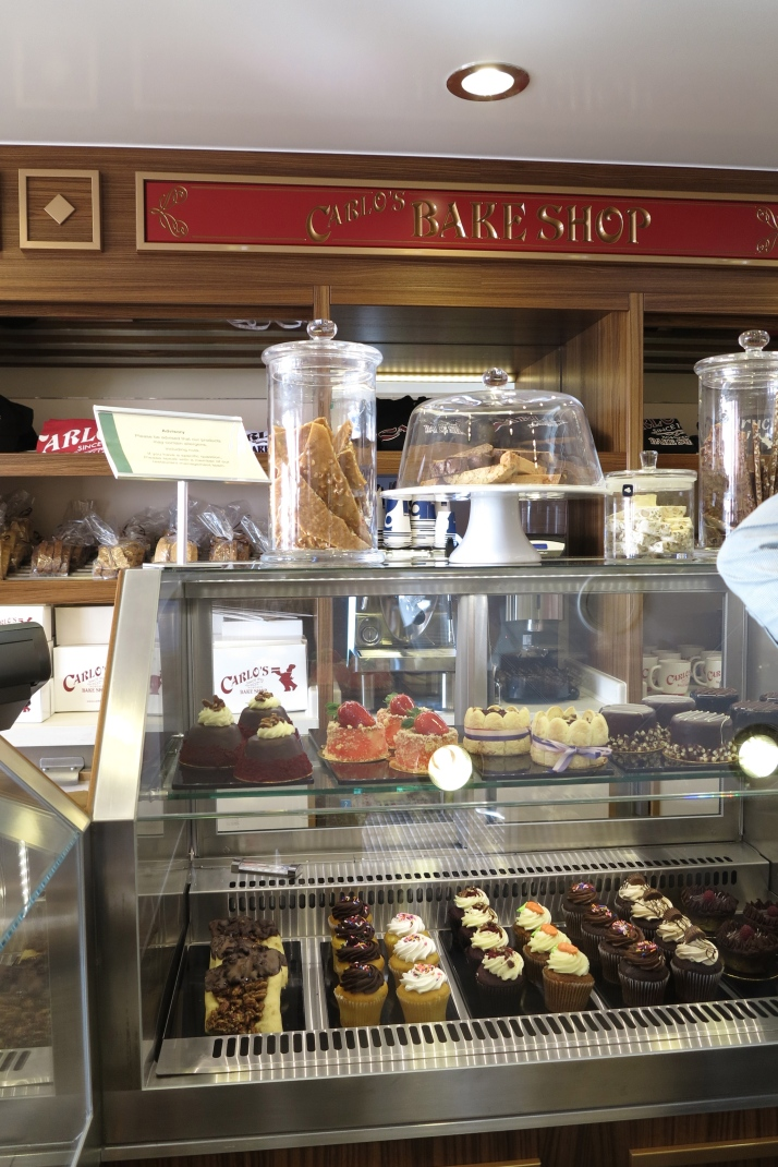 Tempting: The food on display at Carlo's Bake Shop (Picture: Dave Monk)