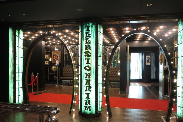 Just like magic: The entrance to the Illusionarium (Picture: Dave Monk)