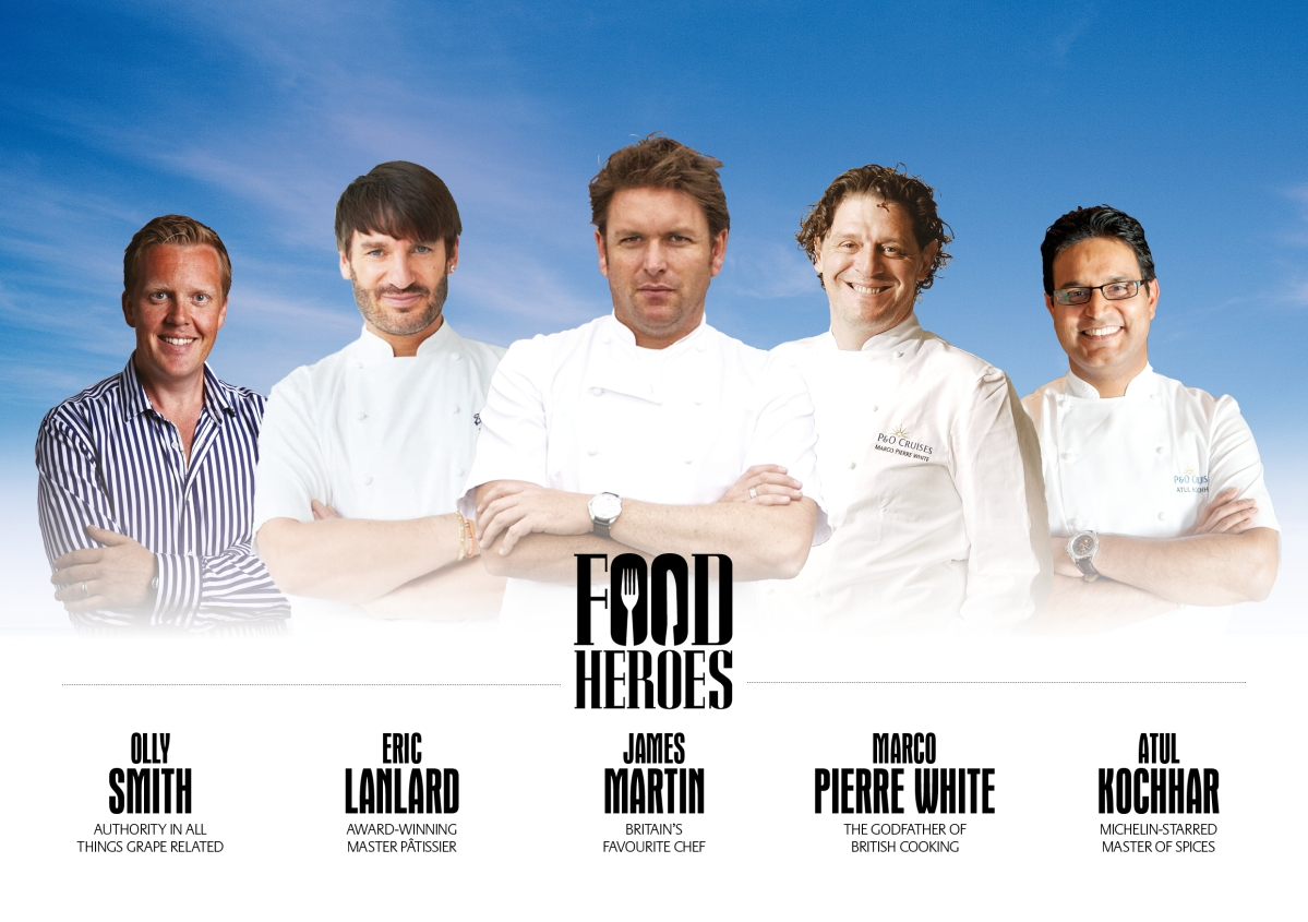Cool Britannia - Saturday Kitchen star James Martin joins celebrity chefs for P&O Cruises' new flagship