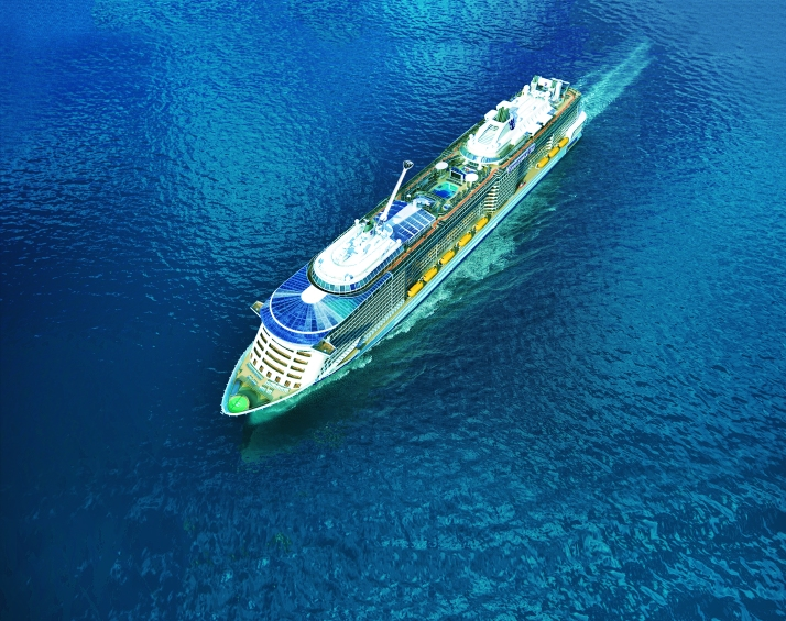 Green and blue: Quantum will use technology to cut energy use (Picture: Royal Caribbean)