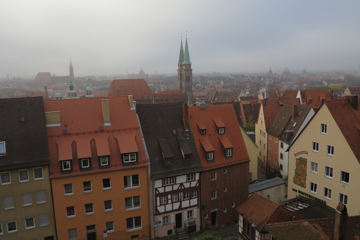 The old town looks the same: Nuremberg viewed from the castle