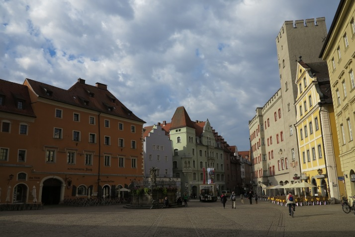 Spared: Regensburg retains much of its old charm because the allies didn't bomb the town after the German army moved out