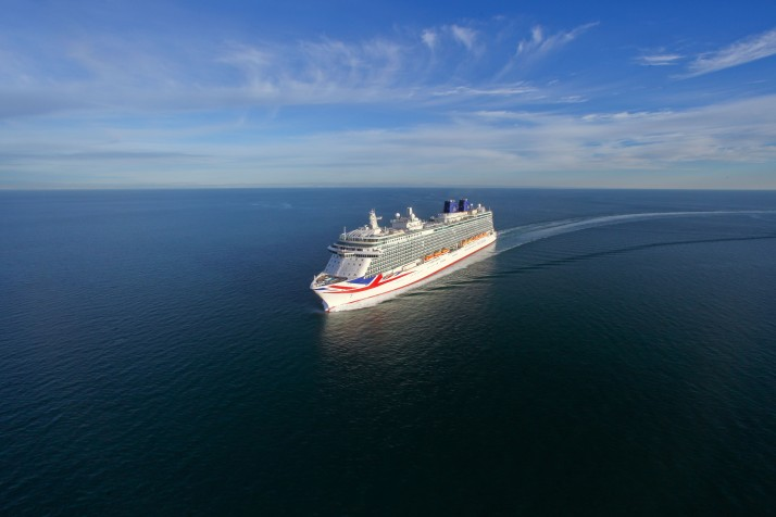 Making waves: Britannia will have a royal welcome (Picture: P&O Cruises)