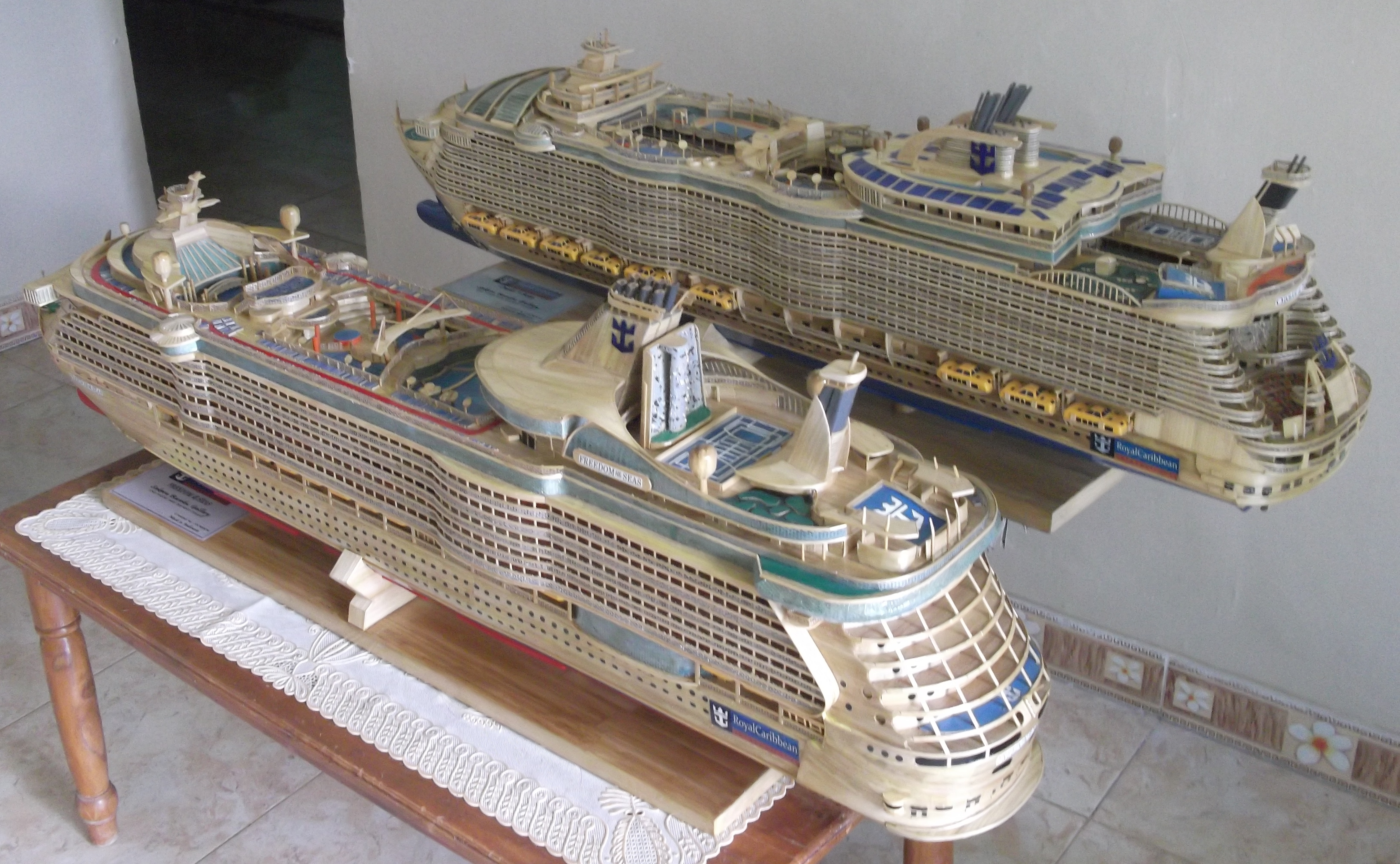 This 26 Year Old Spends Months Making Cruise Ship Models Out Of Bamboo But Has Never Been On A Real One on 3
