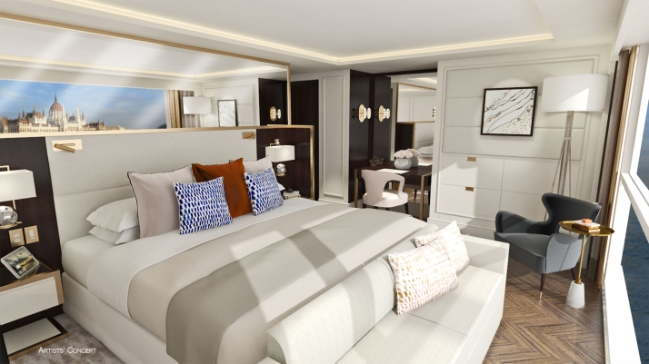 Suite dreams: A luxury room (Picture: Crystal Cruises)