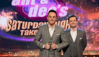 Television Programme: Ant & Dec's Saturday Night Takeaway with television presenter Ant McPartlin and Dec Donnelly.