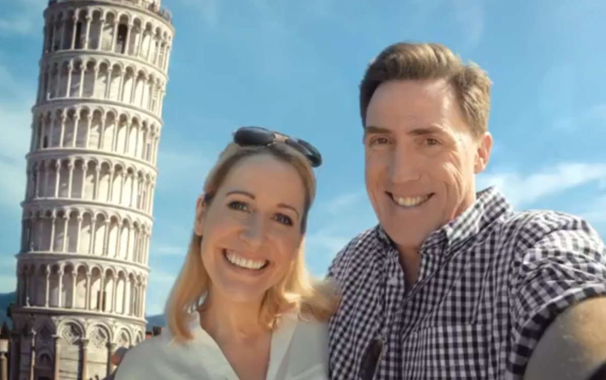 Wondering if that's Rob Brydon's real wife in the P&O Cruises ad? Here's the answer
