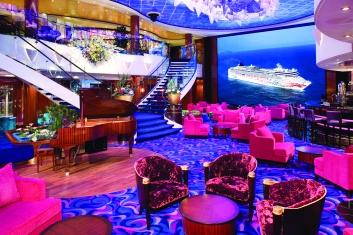 Crystal Atrium - Deck 7 Midship Norwegian Gem - Norwegian Cruise Line