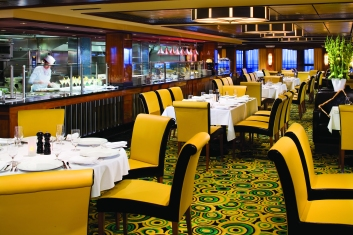 Cagney's Steakhouse - Deck 13 Midship Norwegian Gem - Norwegian Cruise Line