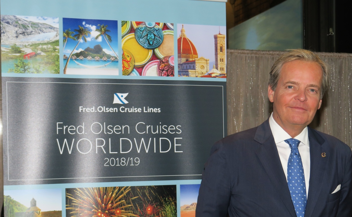 Fred. Olsen Jnr hints at new-build ship at launch of 2018/19 brochure