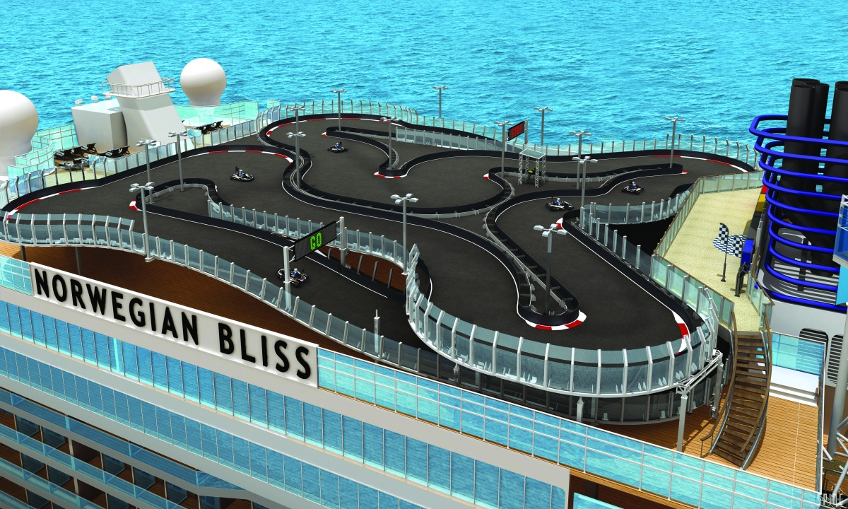 Oh, Bliss! NCL's new ship will have the longest car-racing track at sea
