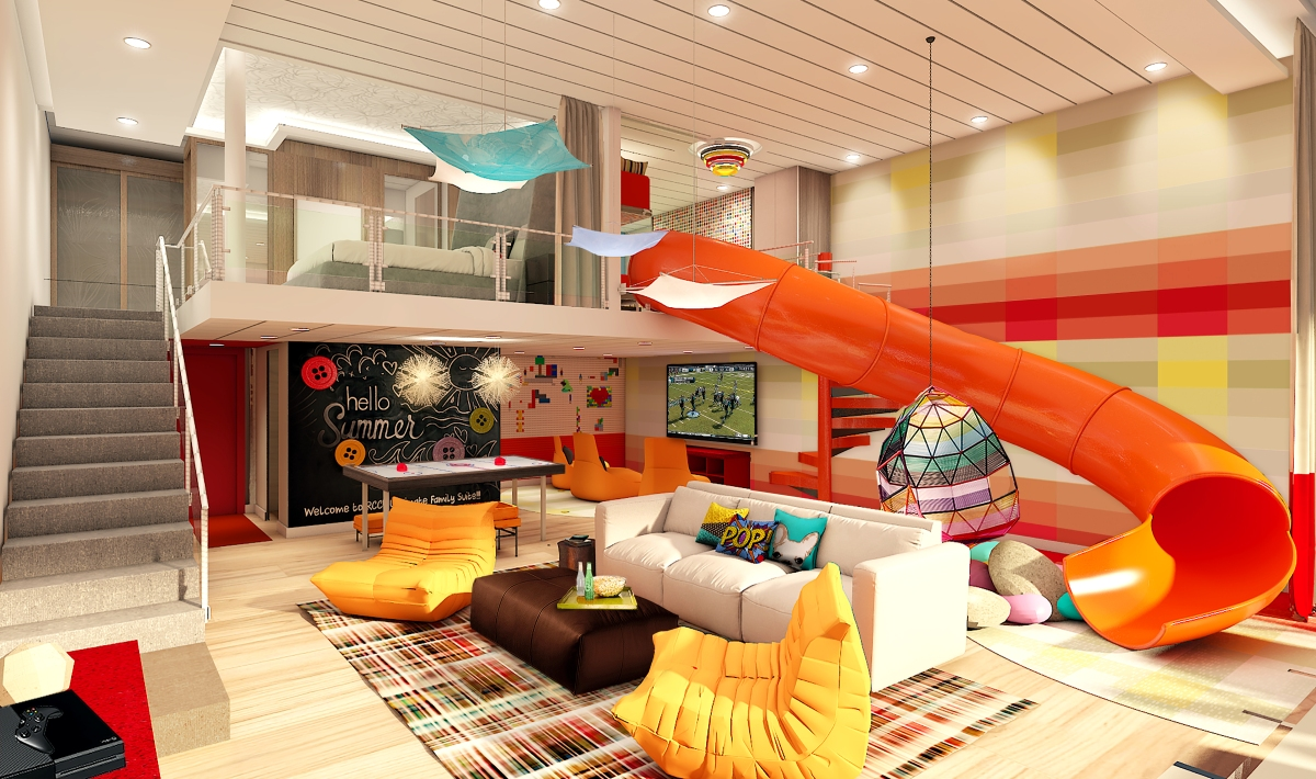 Welcome to the Ultimate Family Suite - with cinema room, slide and air hockey table - on Symphony of the Seas