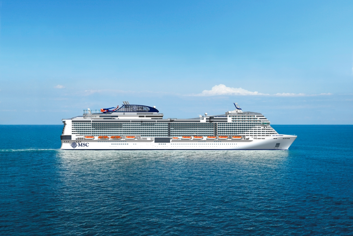 MSC Bellissima will become the biggest ship ever christened in the UK at an event next March